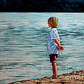 Young Lad By The Shore by Christopher Shellhammer