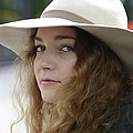 Young Lady With White Hat 1 by Teo SITCHET-KANDA