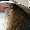 Young Lady With White Hat 2 by Teo SITCHET-KANDA