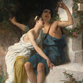 Young Lovers Mocking Pan by Emile Munier