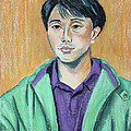 Young Man In A Green Jacket by Asha Carolyn Young