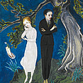 Young Man In Black. Girl In White by Nils Dardel