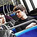 Young Men On The M4 Bus by Sarah Loft