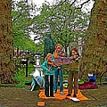 Young Musicians On Orange Day By A Canal In Enkhuizen-netherland by Ruth Hager