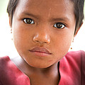 Young School Girl Of Laos Kamut Tribe by Jo Ann Tomaselli