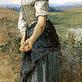 Young Shepherdess by William Bouguereau