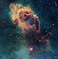 Young Stars Flare In The Carina Nebula by Nasa/esa