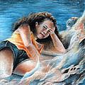 Young Tahitian Mermaid by Miki De Goodaboom