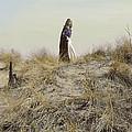 Young Woman In Cloak On A Hill by Jill Battaglia