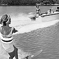 Young Woman Slalom Water Skis by Underwood Archives