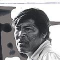 Young Yaqui Man New Pascua Arizona 1969 by David Lee Guss