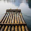 Yulong River Bamboo Raft by Karen Saunders