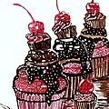Yum Candy Cupcake by Connie Valasco