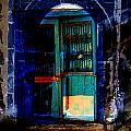 Z Door Blue Digital Art by Mary Clanahan