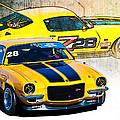 Yellow Z28 Camaro by Stuart Row