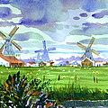 Zaanse Schans Windmills by Lee Klingenberg