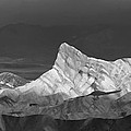 Zabriske Point Panorama 01 Bw by Jim Dollar