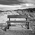 Zabriskie's Bench by Peter Tellone