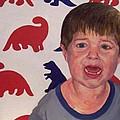 Zachary G With Dinos by Marianne Devine