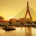 Zakim Bridge Sunset by Nikolyn McDonald