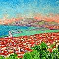 Zakynthos Sunset Light View From Bohali Hill