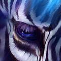 Zebra Blue by Carol Cavalaris