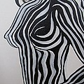 Zebra Body Paint by Mandy Joy