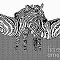 Zebra Love 10 by Karen Larter