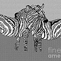 Zebra Love 12 by Karen Larter
