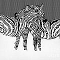 Zebra Love 14 by Karen Larter