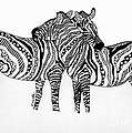 Zebra Love 2 by Karen Larter