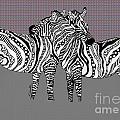Zebra Love 25 by Karen Larter