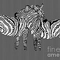 Zebra Love 26 by Karen Larter