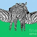 Zebra Love 6 by Karen Larter