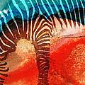 Zebra Love - Art By Sharon Cummings by Sharon Cummings