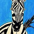 Zebra Portrait 5 by Saundra Myles