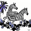 Zebras At Play by Saundra Myles