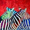 Zebras In Love  by Ana Maria Edulescu