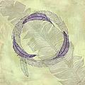 Zen Feather Circle I I I by Paulette B Wright