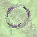 Zen Feather Circle I V by Paulette B Wright