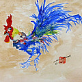 Zen Rooster by Arlene  Wright-Correll