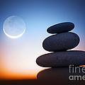 Zen Stones At Night by Konstantin Sutyagin