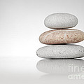 Zen Stones On White by Konstantin Sutyagin