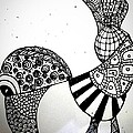 Zentangle Bird by Kallai vani Ramani
