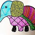 Zentangle Elephant by Kallai vani Ramani