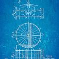 Zeppelin Navigable Balloon Patent Art 2 1899 Blueprint by Ian Monk