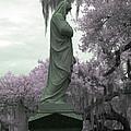 Ziba King Memorial Statue Side View Florida Usa Near Infrared Gr by Sally Rockefeller