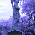 Ziba King Memorial Statue Side View Florida Usa Near Infrared by Sally Rockefeller