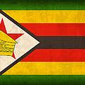 Zimbabwe Flag Distressed Vintage Finish by Design Turnpike