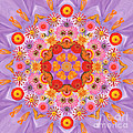 Zinna Flower Mandala by Susan Bloom